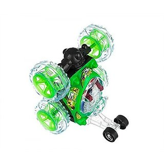 Remote Control Stunt Car With Light And Music (Multi Color)