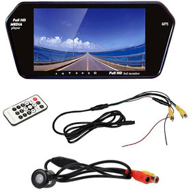 Akkart 7 Inch Car Video Monitor With Rear View Camera For Mahindra TUV 300