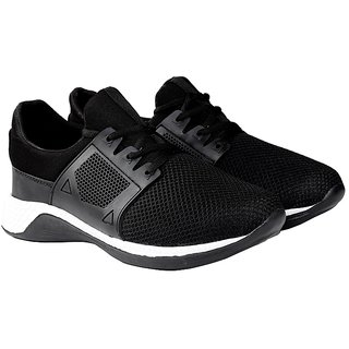 Zappy Men Black Walking Shoes