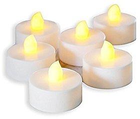 LED Tea Light Candle Pack of 6 Diwali Decoration Flameless