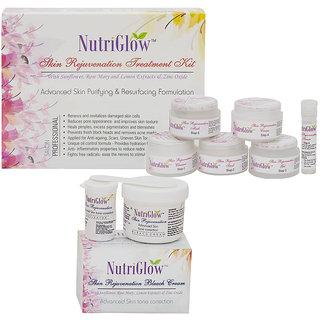 Set of 1 Skin rejuvenation facial kit + 1 skin rejuvenation bleach cream