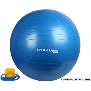Strauss Anti Burst Gym Ball with Foot Pump 55 CM