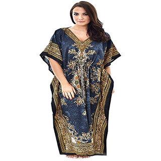 b077db84a1 Delhi Bazar Kaftan Dresses For Women Tribal Ethnic Print Long Kaftans  Caftan Plus Size Loose Maxi Dress