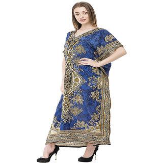 Delhi Bazar  One Size  Kaftan Dress Long Maxi Kimono Caftan Drawstring Gown Nightdress Beach Kaftan Casual Party Dress