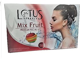 Lotus Herbals Professional Mix Fruit Premium Facial Kit 600 g  (Set of 5)