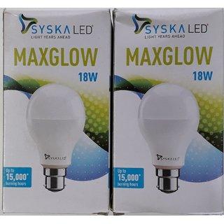 18 W Syska led bulb ( COMBO PACK OF 2 BULB)