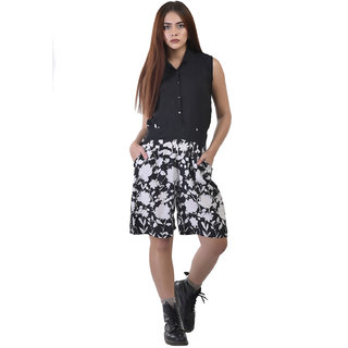 6759ac3ed6a3 Buy Code Yellow Women s Black Bottom Printed Jumpsuit with Pockets Online -  Get 70% Off