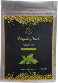 Virasat Darjeeling Fresh Green Tea Mint Flavour 250 Gram