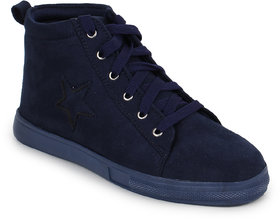 Fiteh Women's Dark Blue Sneakers