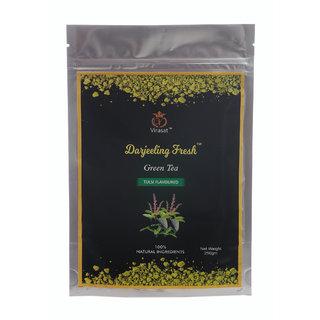Virasat Darjeeling Fresh Green Tea  Basil Flavour 250 Gram