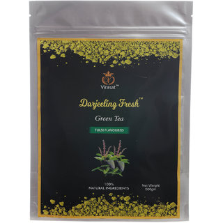 Virasat Darjeeling Fresh Green Tea Basil Flavour 500 Gram