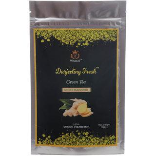 Virasat Darjeeling Fresh Green Tea  Ginger Flavour 100 Gram
