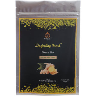 Virasat Darjeeling Fresh Green Tea Ginger Flavour 250 Gram