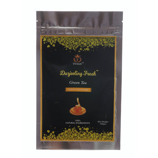 Virasat Darjeeling Fresh Green Tea  Honey Flavour  100 Gram