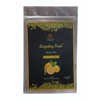 Virasat Darjeeling Fresh Green Tea Lemon Flavour  100 Gram