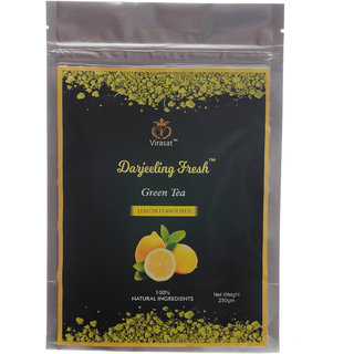 Virasat Darjeeling Fresh Green Tea Lemon Flavour 250 Gram