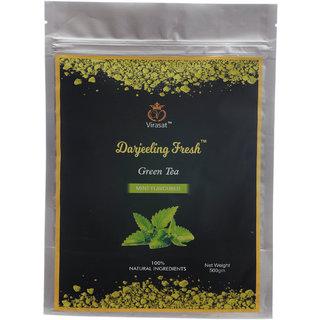 Virasat Darjeeling Fresh Green Tea  Mint Flavour 500 Gram