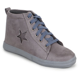 Fiteh Women's Grey Sneakers