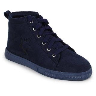 Fiteh Women's Dark Blue Sneakers