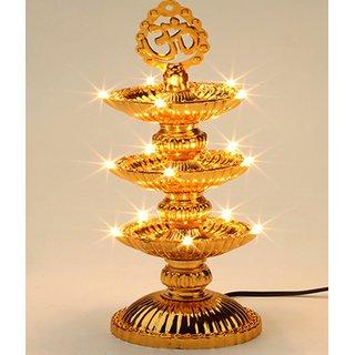 VRCT 21 Deep Golden Diwali Diya Lights Plastic