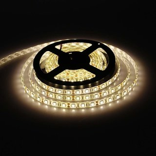Warm White 5M NON Waterproof LED SMD Strip + 12V DC Power Supply (BY Anil Retail)