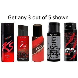 KS Spray For Men - Set Of 3 (Any 3 Out of 5 as per availability)