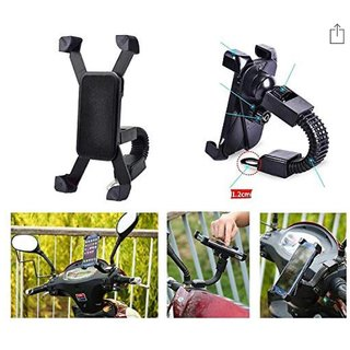 Universal Scooter Motorcycle Cycle Mount Holder for Phone Mobile Bicycle Handlebar Mobile Phone Holder Mobile Holder