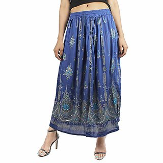 23fdd2b4bf Buy Classic Wear Women's Indian Ethnic Wear & Summer Wear Dresses Long  Skirts Printed Maxi Skirts Online - Get 48% Off
