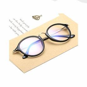 Debonair ARC Clear UV Protected Round Wayfarer Unisex Spectacle Frame(Transparent)