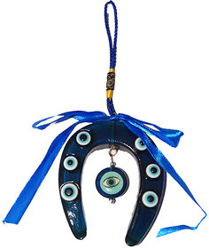 Evil Eye BLUE Horse Shoe Hanging with heart eye ,evil eye, najar raksha