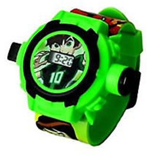 Ben 10 Round Dial Green Plastic Automatic Kids watch