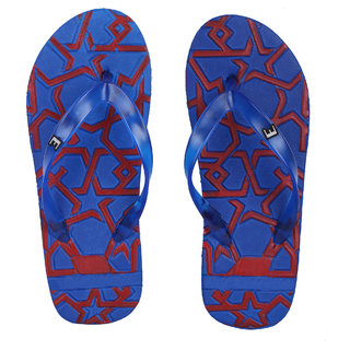 578634fc2ede Buy Edee Mens Blue Embossing Stylish Slippers Online - Get 66% Off