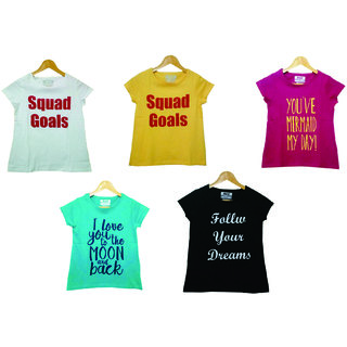 OS Girls T-shirt Pack of 5
