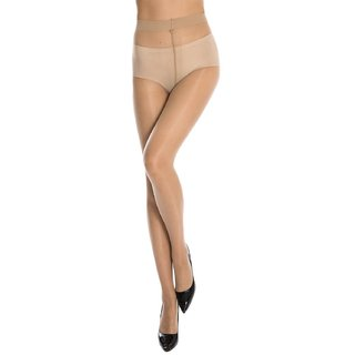 Neska Moda Women Beige Nylon Panty Hose Stockings