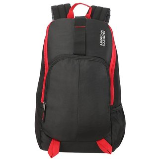 American Tourister Fit Pack Gym/Laptop 21 L Backpack  (Black, Red)