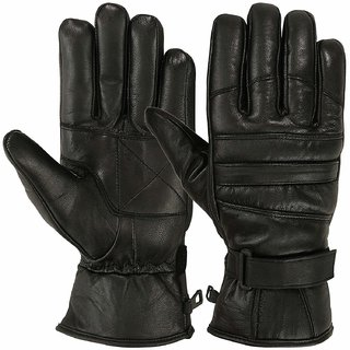 G-MTIN Full Finger Leather Gloves Men Winter Cycling Riding