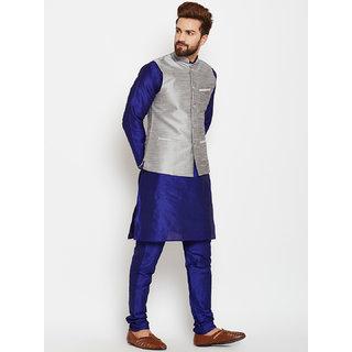 ABH LIFESTYLE Men's kurta pyjama and waistcoat set