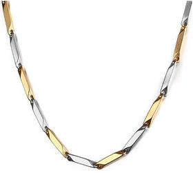XC-51 Xoonic Dual Tone Stainless Steel Chain 22 Inch long Wheat design
