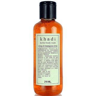 Khadi orange and lemongrass citrus Body wash 210ml