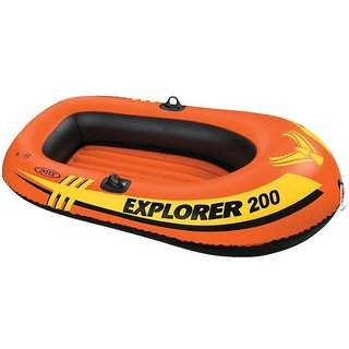 Intex Explorer200 Inflatable Boat Two Man Blowup Raft #58330 OARS Not Included