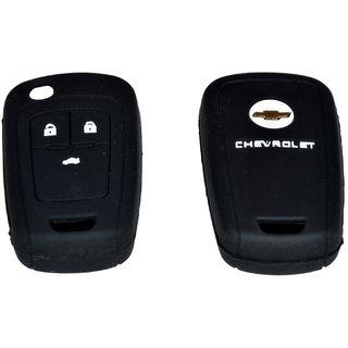 Silicon Car Remote Key Cover For Chevrolet Cruze - Black