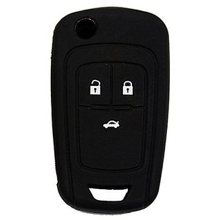 TFS Car Key Cover Chevrolet Black Silicone (Black)