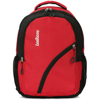 LeeRooy Nylon 22 Ltr Red Classic Bag Backpack For Women