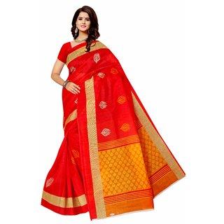 SVB SAree Pink Colour Silk Saree With blouse Piece