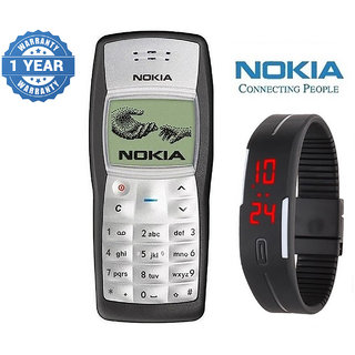 Nokia 1100 / Good Condition/ Certified Pre Owned (1 Year Warranty) With Silicon Watch