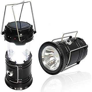 LED Solar Emergency Light Lantern + USB Mobile Charging+Torch Point, 2 Power Source Solar, Travel Camping Lantern