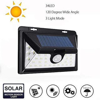 Bentag 5W 34 LED (Large) Solar Outdoor Wall Light - Pack of 1