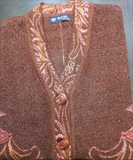 Ladies V-Neck Stripped Sweater