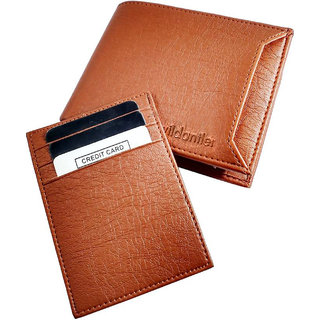 Wildantler Tan PU Wallet For Men (7 Card Slots)