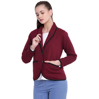 Texco Woman Maroon Winter Blazer